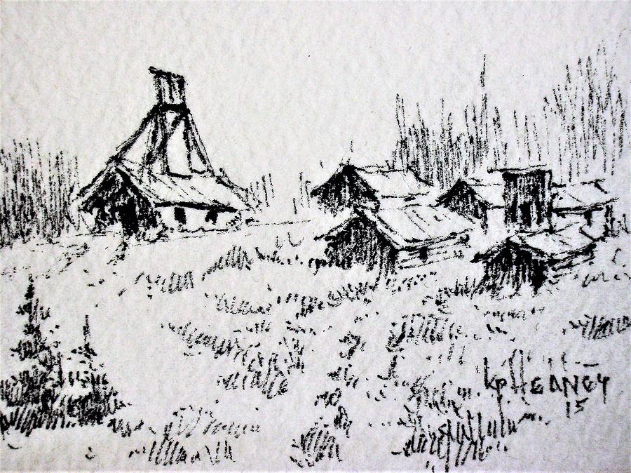 Mine Drawing - Steel Creek Mine Montana by Kevin Heaney