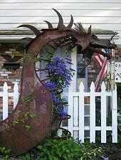 Sculpture Sculpture - Steel Dragon by Todd Timler