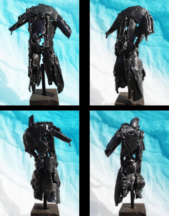 steel ED torso Sculpture by Don Thibodeaux