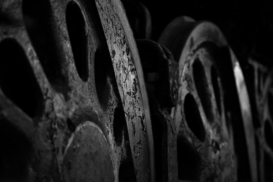 Steel Wheels Black and White by Matt Hammerstein
