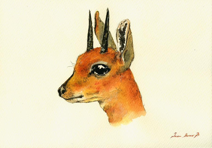 Eland Painting - Steenbok by Juan  Bosco