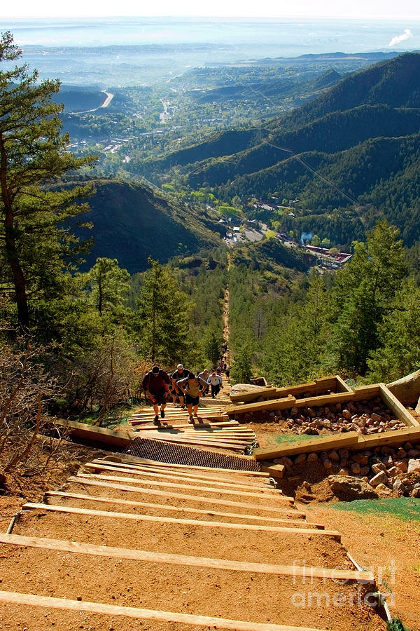 Steep Manitou Incline And Barr Trail Photograph