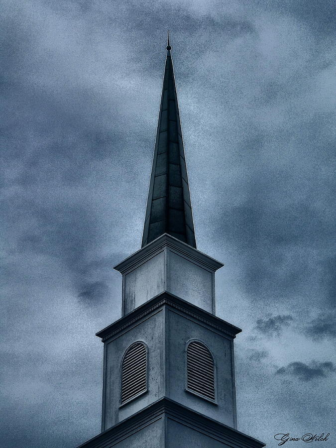 Steeple Photograph - Steeple II by Gina Welch