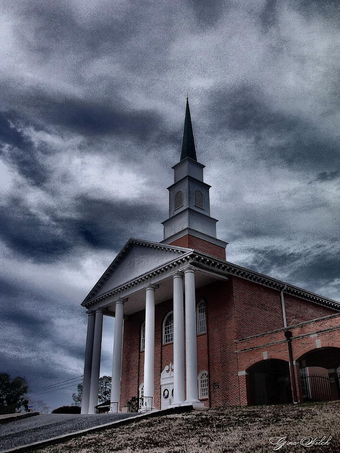 Church Photograph - Steeple In The Sky by Gina Welch