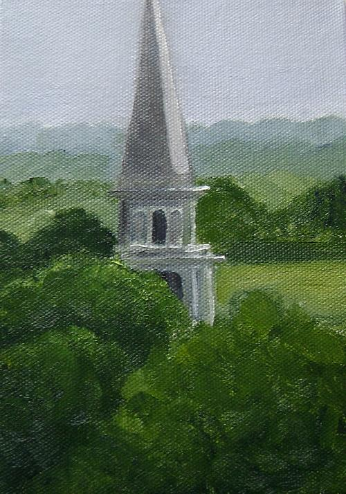 Steeple Painting - Steeple  by Toni Berry