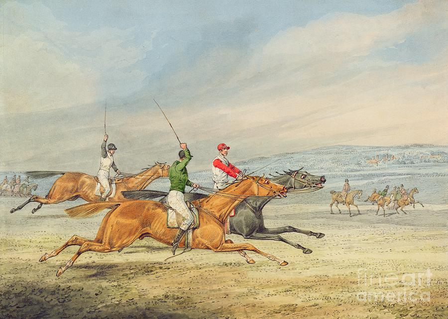 Steeplechasing Painting - Steeplechasing by Henry Thomas Alken