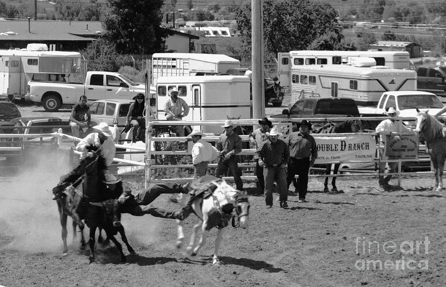 Rodeo Photograph - Steer Wrestling by Susan Chandler