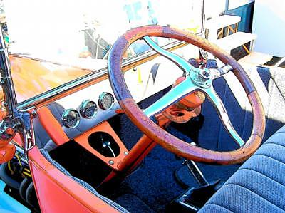 Hot Rod Cars Photograph - Steering by Barbara Love Newport