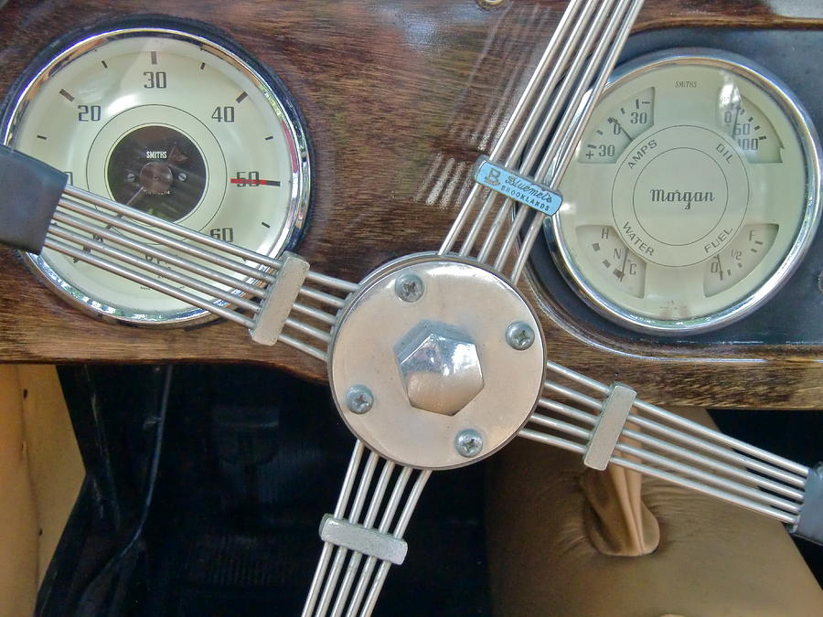 Antique Cars Photograph - Steering by Richard Mansfield