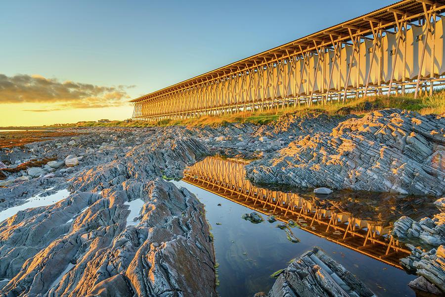 Vardo Photograph - Steilneset Monument Reflections  by Inger Vaa Eriksen
