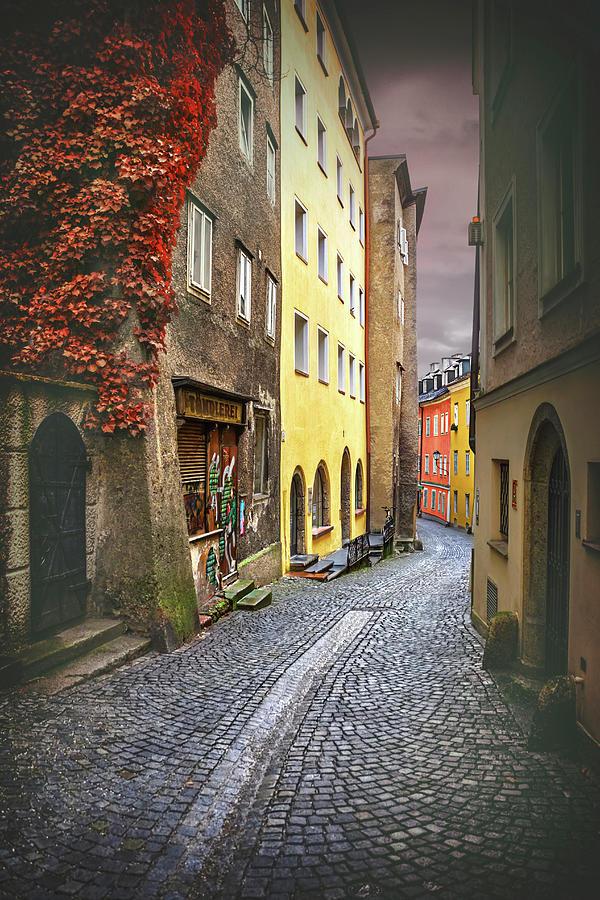 Salzburg Photograph - Steingasse Street Salzburg Austria  by Carol Japp