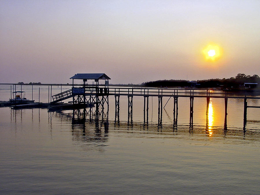 Steinhatchee Florida Photograph - Steinhatchee Sunset by Robert OP Parrish