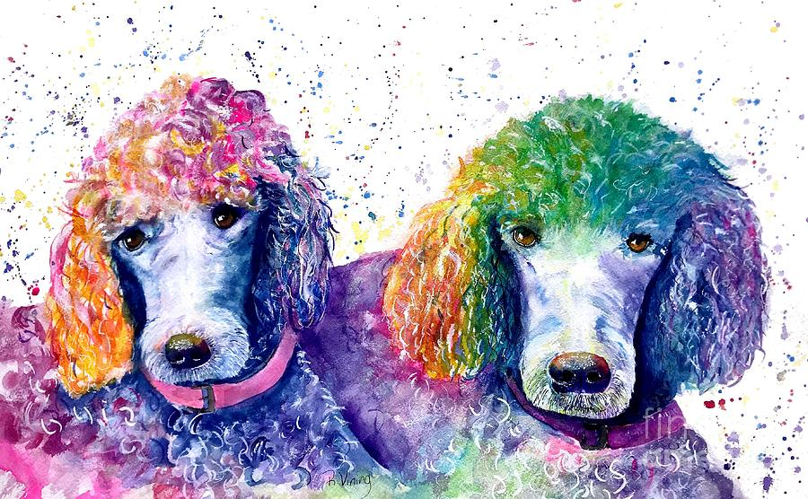Colorful Painting - Stella And Violet by Raelene Vining