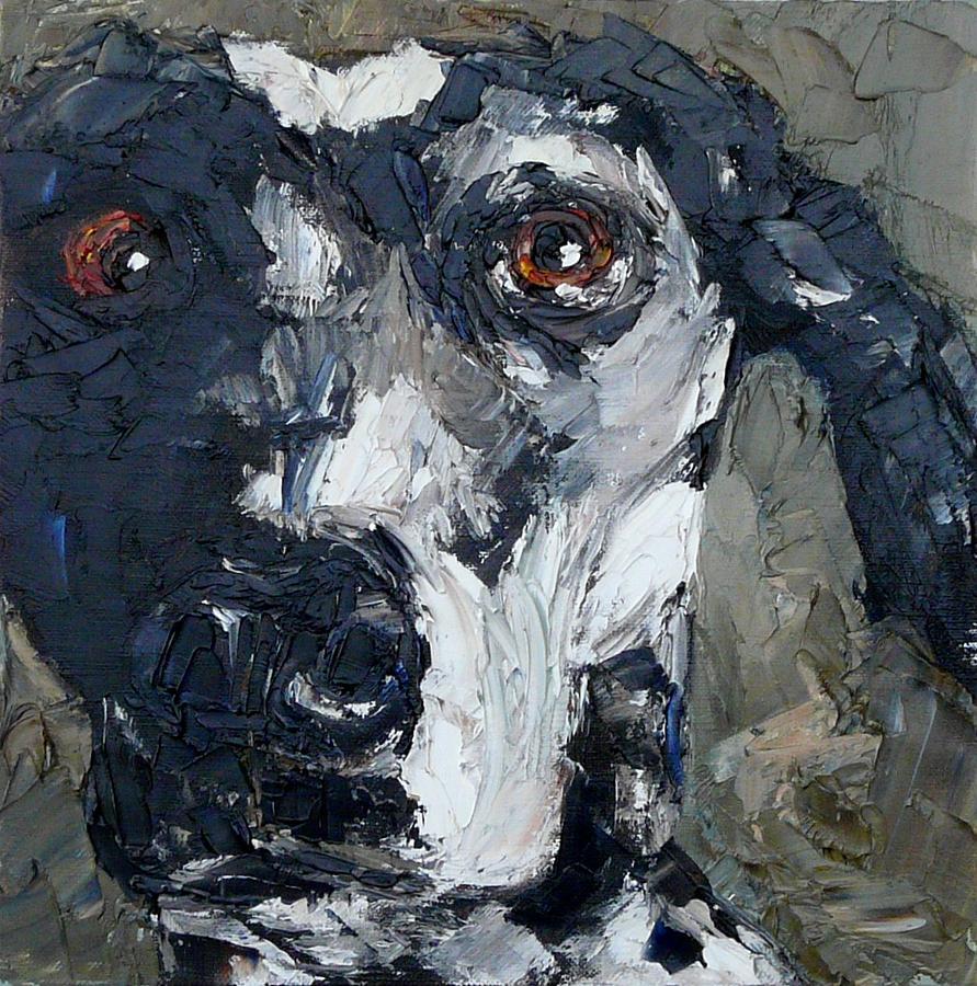 Dog Painting - Stella by Judy Mackey