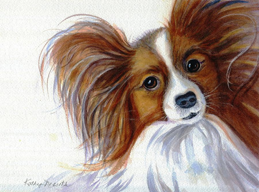 Papillon Painting - Stella by Kathy Nesseth