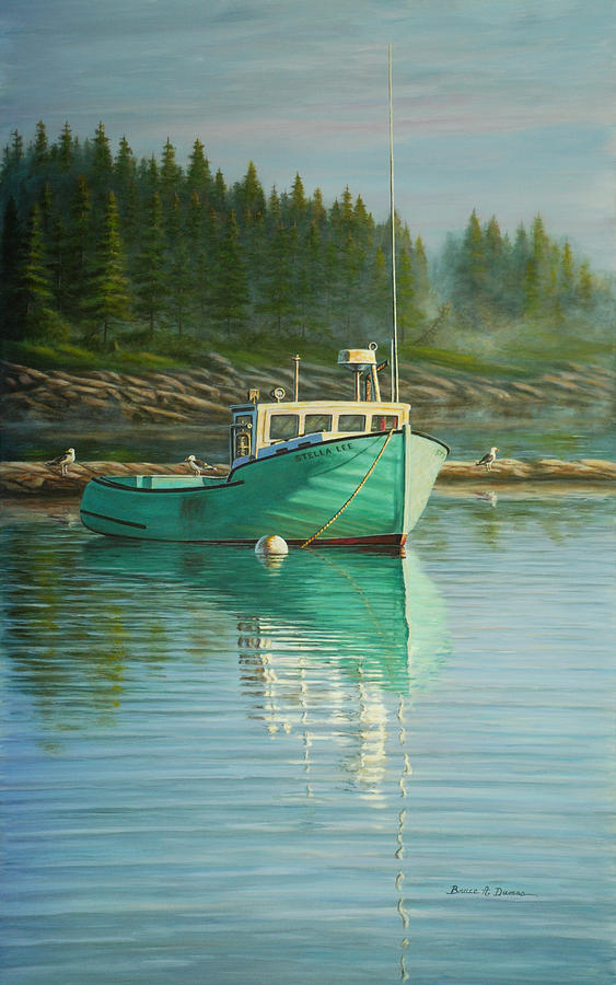 Boat Painting - Stella Lee by Bruce Dumas