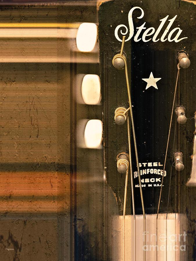 Guitar Photograph - Stella  by Steven Digman