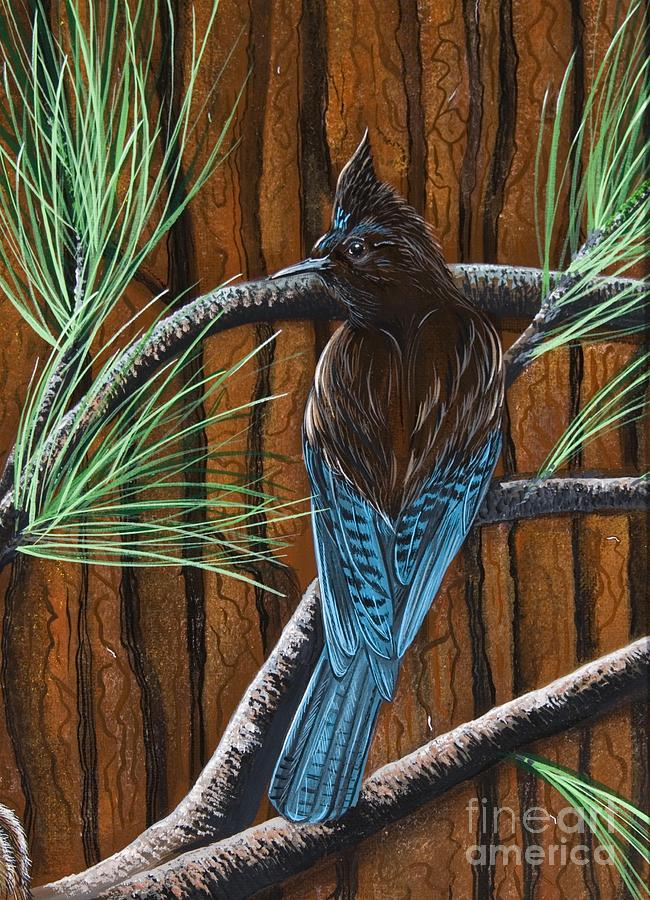 Bird Painting - Stellar Jay by Jennifer Lake