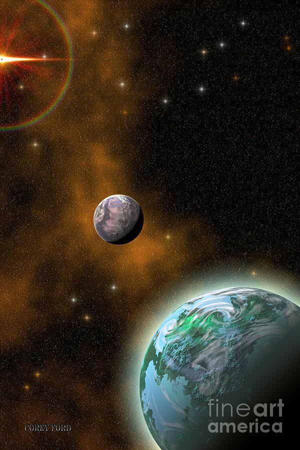 Universe 3d Painting - Stellar Smoke Ring by Corey Ford