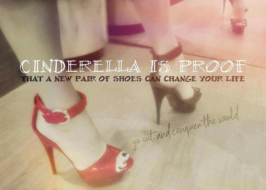 Shoes Photograph - Stellar Stilettos Quote by JAMART Photography