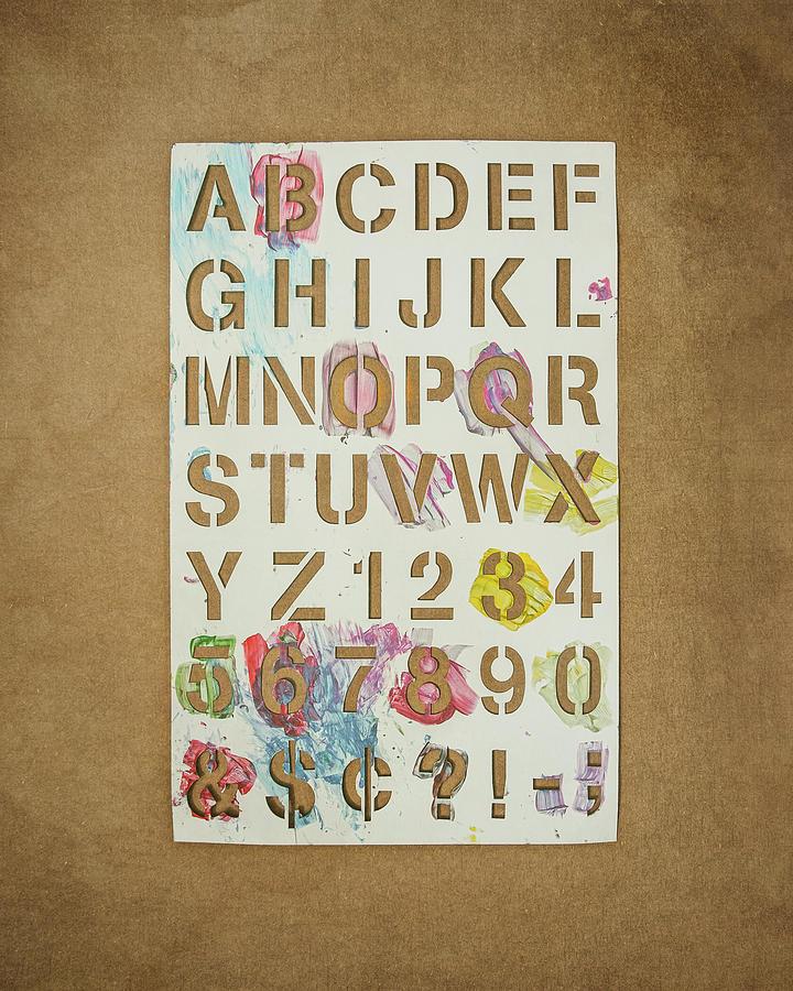 Stencil Alphabet Fun Photograph
