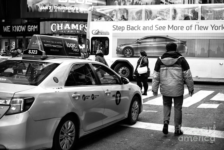 Street Scene Photograph - Step Back And See More Of New York by John Rizzuto
