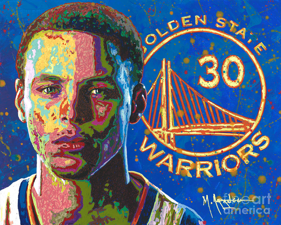 Stephen Curry Painting - Steph Curry by Maria Arango