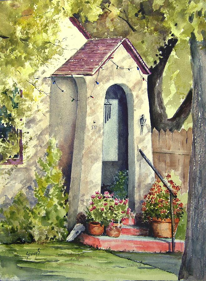 Door Painting - Stephanies Porch by Sam Sidders