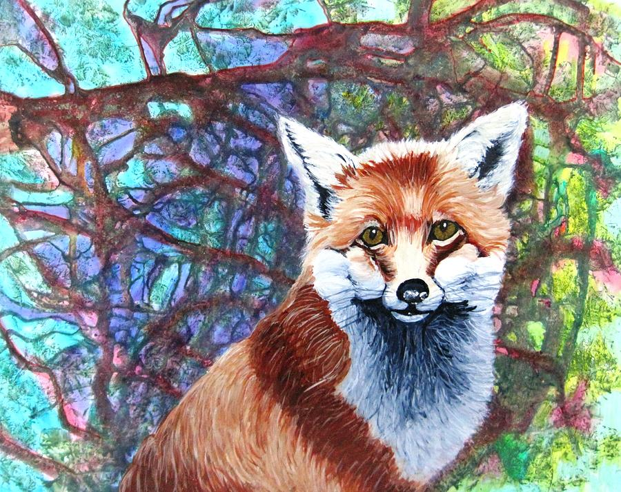 Fox Painting - Stepping Out by David Raderstorf