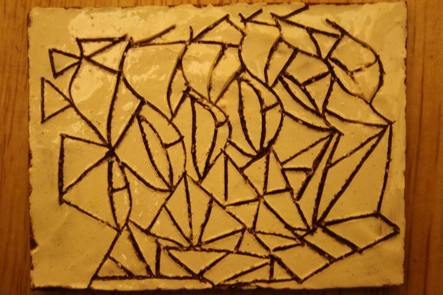 Jesus Ceramic Art - Steps - Tile by Gloria Ssali