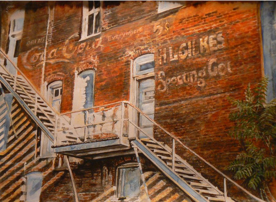 Urban Painting - Steps In Time by Thomas Akers