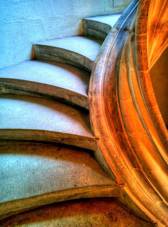 Steps to an organ loft by Jenny Setchell