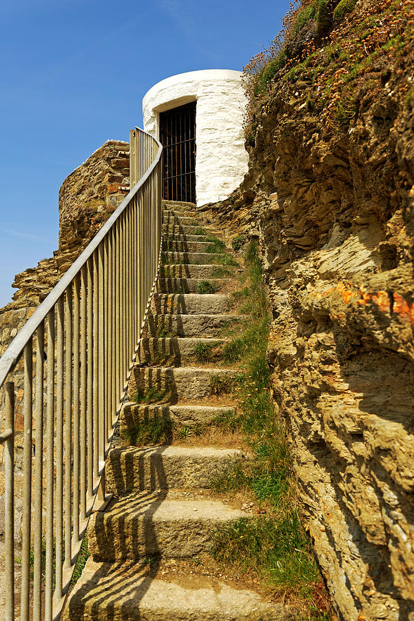 Steps To Dead Mans Hut - Portreath Photograph