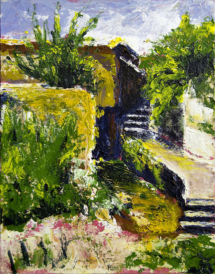 Steps Painting - Steps To San Martin by Robert Sako