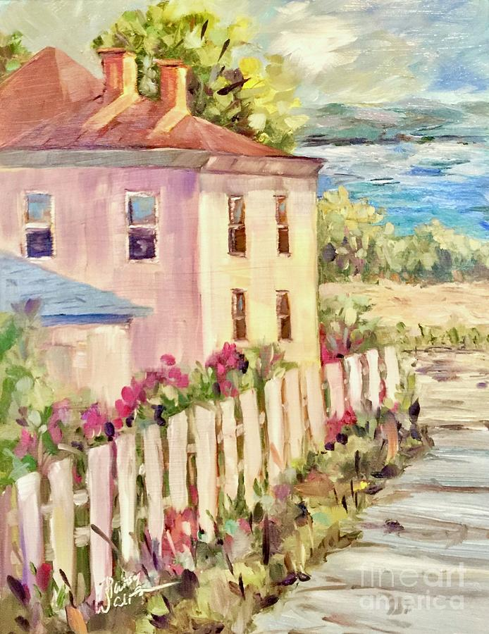 Hudson River Painting - Steps To The Hudson by Patsy Walton