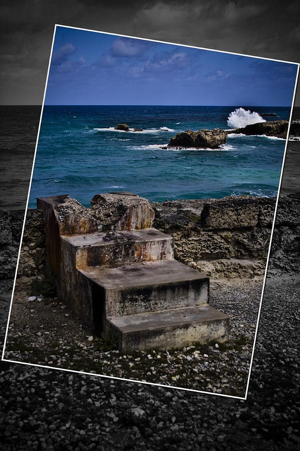 Steps Photograph - Steps To The Ocean2 by Ted Petrovits
