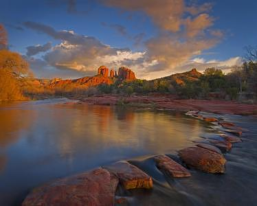 Sedona Photograph - Stepstone Crossing by Fred Parsons