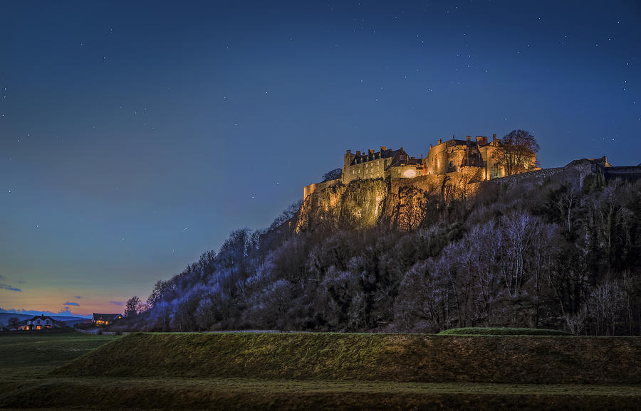 Stirling Castle Scotland At Night Photograph By Mal Bray