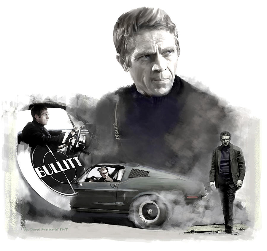 Steve McQueen 50 Bullitt by Iconic Images Art Gallery David Pucciarelli