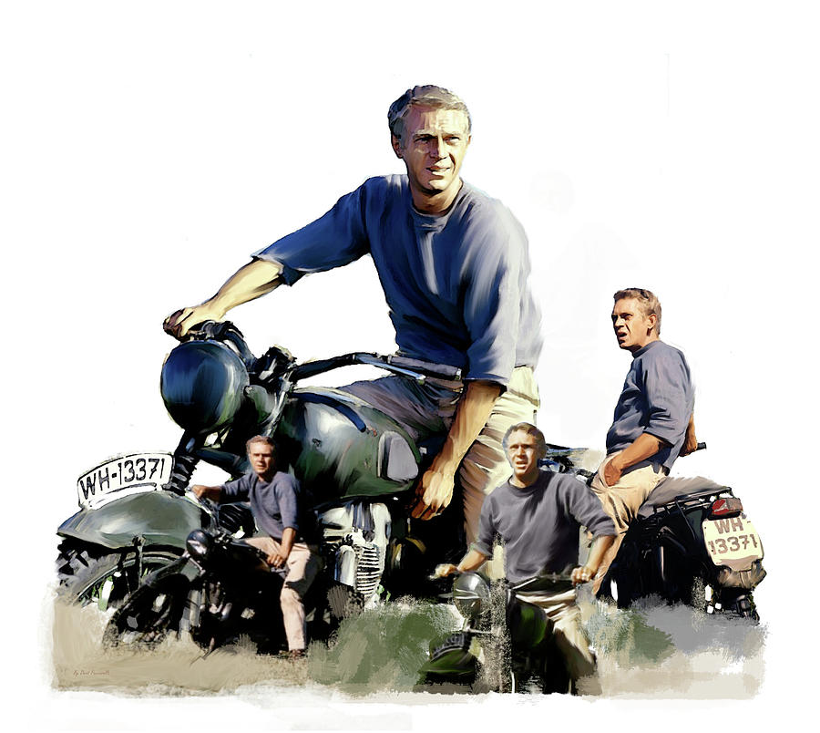 Steve McQueen  Captain Hilts by Iconic Images Art Gallery David Pucciarelli