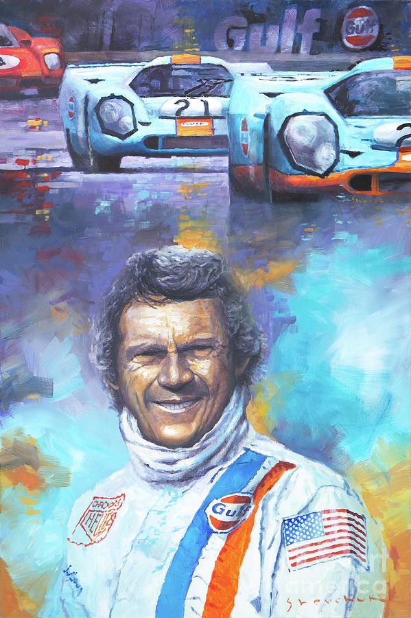 Steve Mcqueen Le Mans Porsche 917 Painting By Yuriy Shevchuk