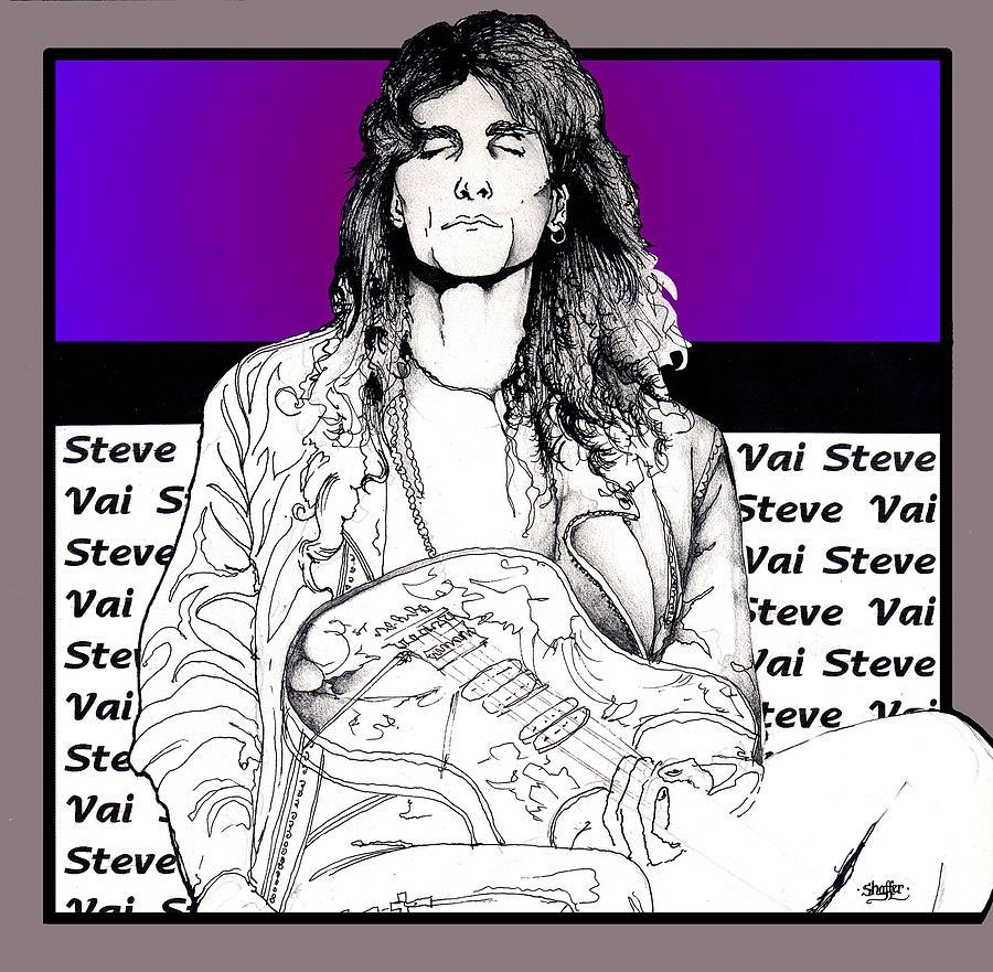 Steve Vai Mixed Media - Steve Vai Sitting by Curtiss Shaffer