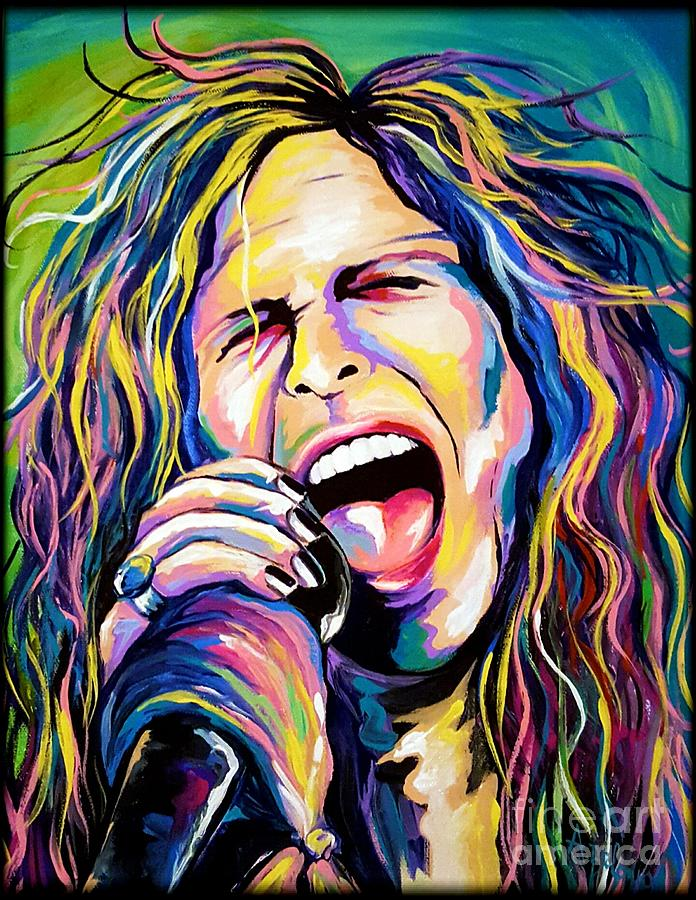 Steven Tyler Painting - Steven Tyler by Amy Belonio