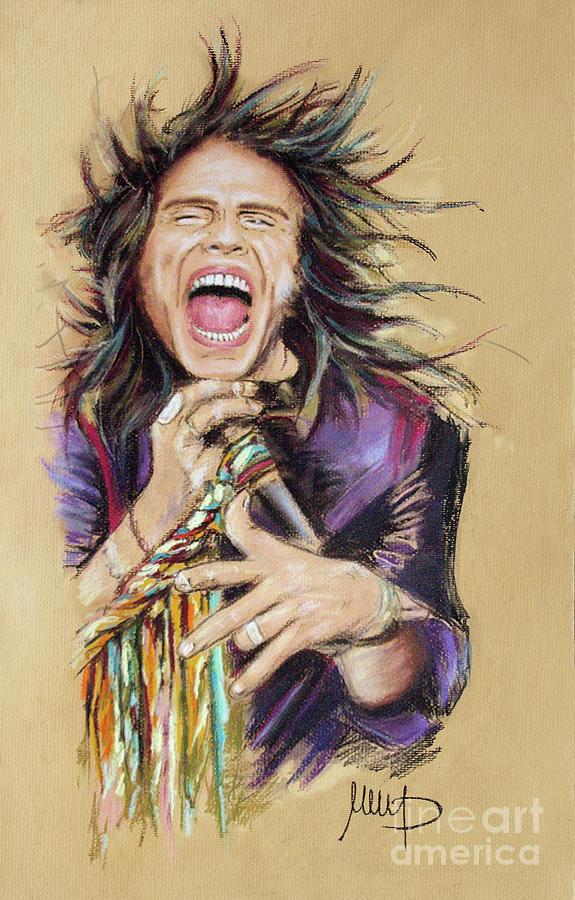 Steven Tyler Pastel - Steven Tyler by Melanie D