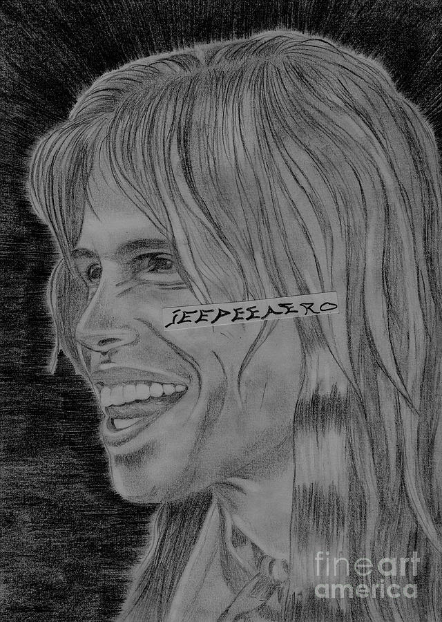 Aerosmith Drawing - Steven Tyler Portrait Image Pictures by Jeepee Aero