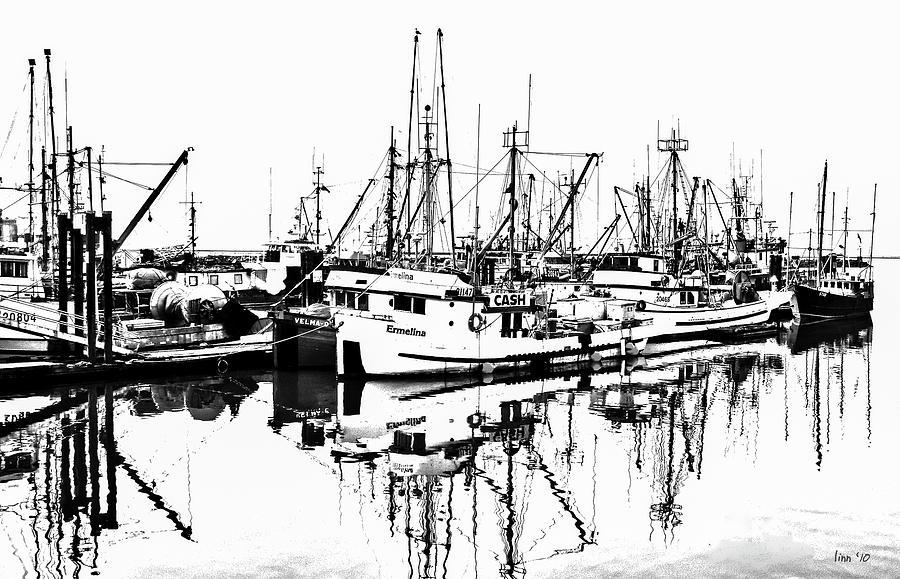 Steveston Digital Art - Steveston Harbor by Bill Linn
