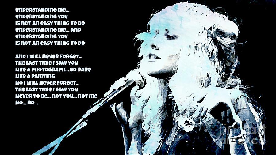 Stevie Nicks Blue Denim Painting By John Malone