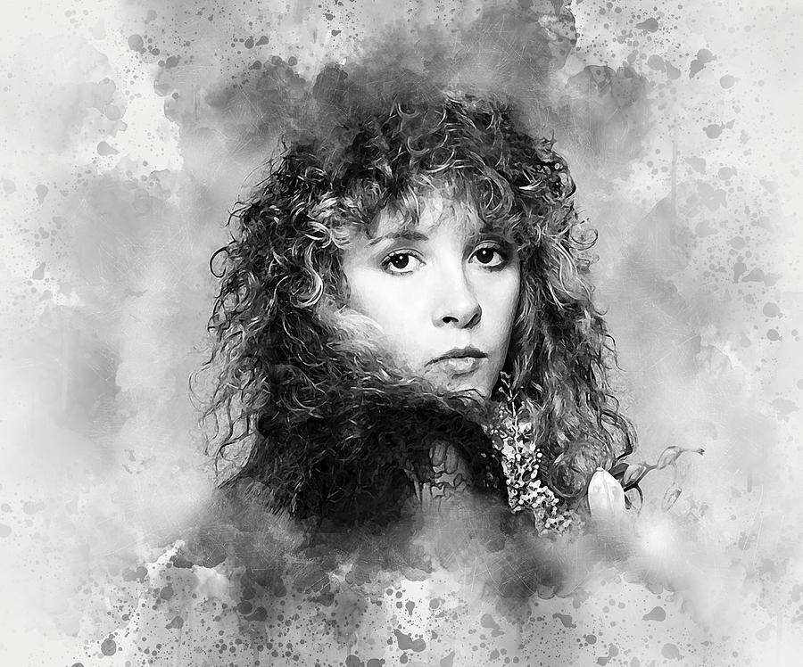 Stevie Nicks Digital Art - Stevie Nicks by Karl Knox Images