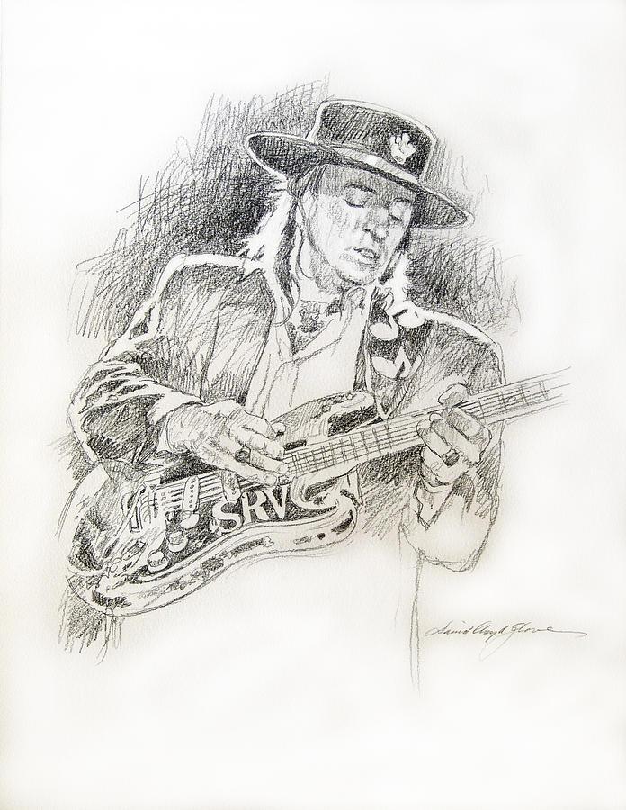 Stevie Ray Vaughan Drawing - Stevie Ray Vaughan - Texas Twister by David Lloyd Glover