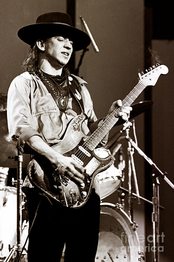 Stevie Ray Vaughan Photograph - Stevie Ray Vaughan 1984 Sepia Sepia by Chris Walter